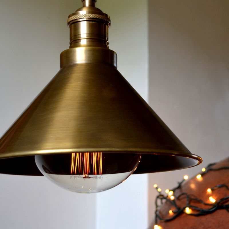 Pendant cone in antique brass aloadofball Image collections